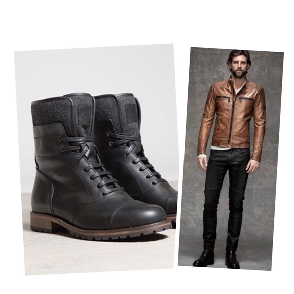 better wholesale price new concept •Belstaff 'Faystar' leather moto biker boots•